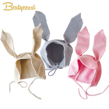 New Winter Baby Hat Bunny Long Ears Cap Baby Bonnet Infant H