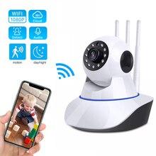 Câmera de segurança inteligente com hd 1080p 720p, filmadora de vigilância em nuvem, auto rastreamento, p2p, ir, monitor de bebê, noite câmera de visão doméstica