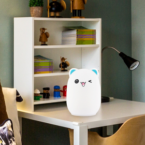 Image 5 - Veilleuse de LED de bande dessinée de capteur de contact de Silicone pour la veilleuse LED des enfants LED animale dusb rvb 24Key à télécommande