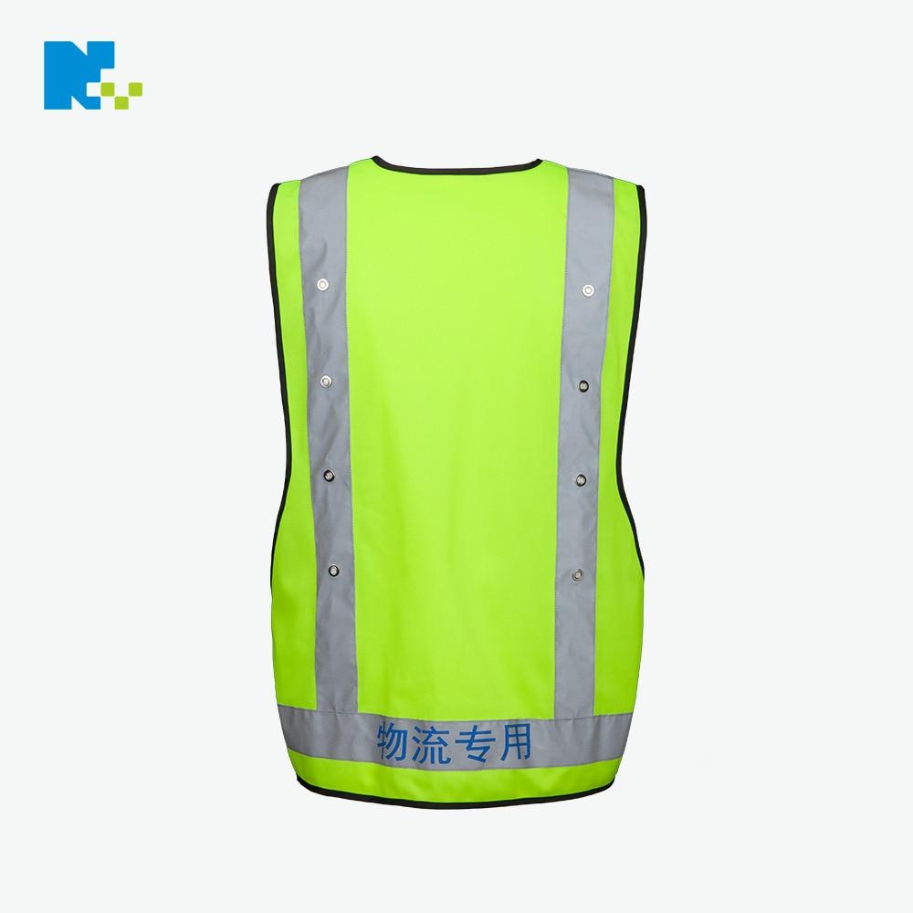Reflective Vest Manufacturers LED Safety Vest Logistics Express Reflective Waistcoat But Lettering Customizable Safe Clothing