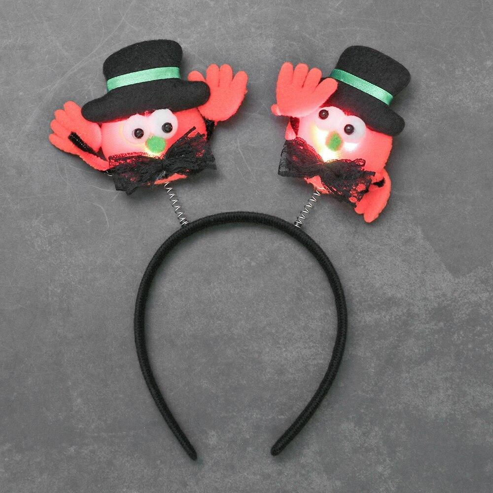 Halloween Headband Decorative Hair-Hoop Cosplay 1PC New Bat with Lamp Trendy Hat Pumpkin