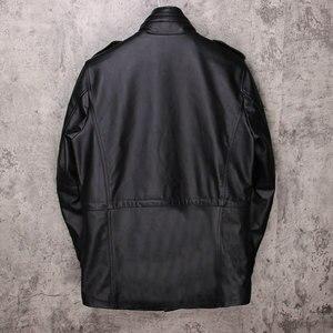 Image 2 - شحن مجاني. العلامة التجارية الكلاسيكية M65 رجل جلد البقر سترة الرجال معطف جلد طبيعي. الشتاء الملابس الجلدية. مبيعات حجم كبير ، جودة