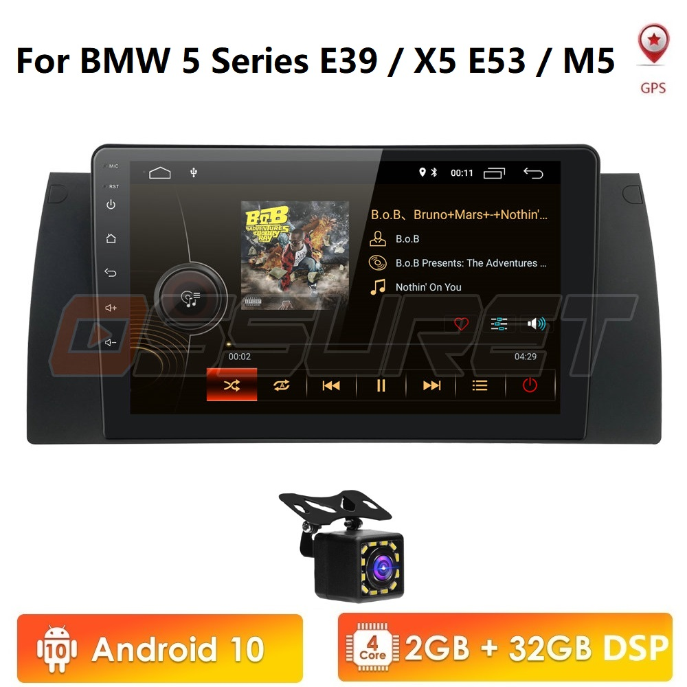 Android 10 4G 2G+32G Car Multimedia Player For <font><b>BMW</b></font> X5 E53 <font><b>E39</b></font> GPS stereo audio navigation monitor touch screen head unit USB BT image