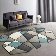 Modern Nordic Carpet Special Irregular Shape Geometric Multicolor Abstract Rug Home Decor Cloakroom FLoor Mat