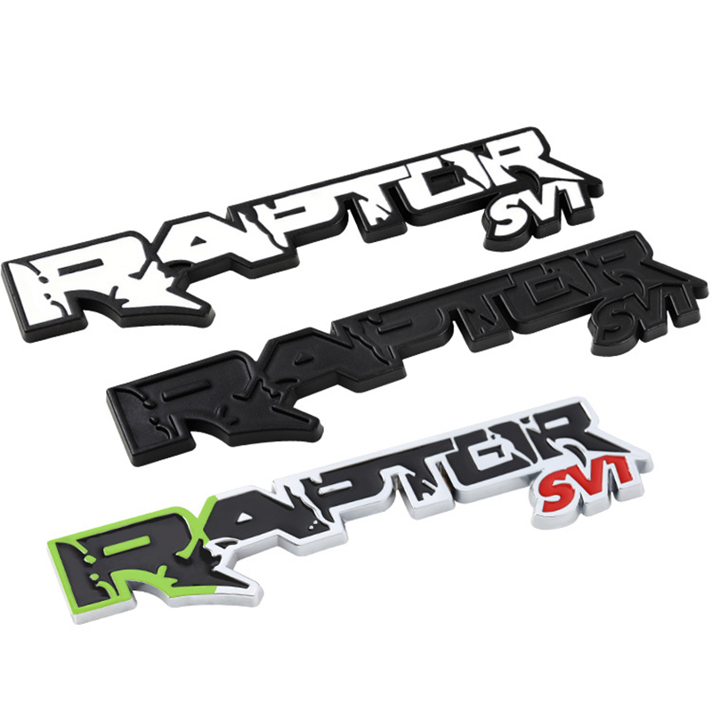 3d Metal Pickup Emblem For <font><b>Ford</b></font> <font><b>Raptor</b></font> SVT F Series F150 F250 F350 F450 F550 F650 Tail Boot Letter Decal Cool Auto Accessories image
