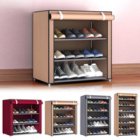 4/5/6/8/10 schichten Schuhe Rack Mit Staubdicht Tuch Vlies Schuh steht Organizer Closet Hause Schuhe Lagerung Halter Regale