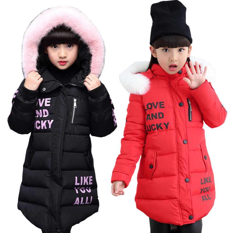 Dzieci dziewczyny kurtka 2018 jesień zima kurtka dla dziewczyny płaszcz dziewczynek ciepłe kurtka z kapturem płaszcz dziewczyny dla dzieci odzież dla dzieci odzież dziecięca długa parka