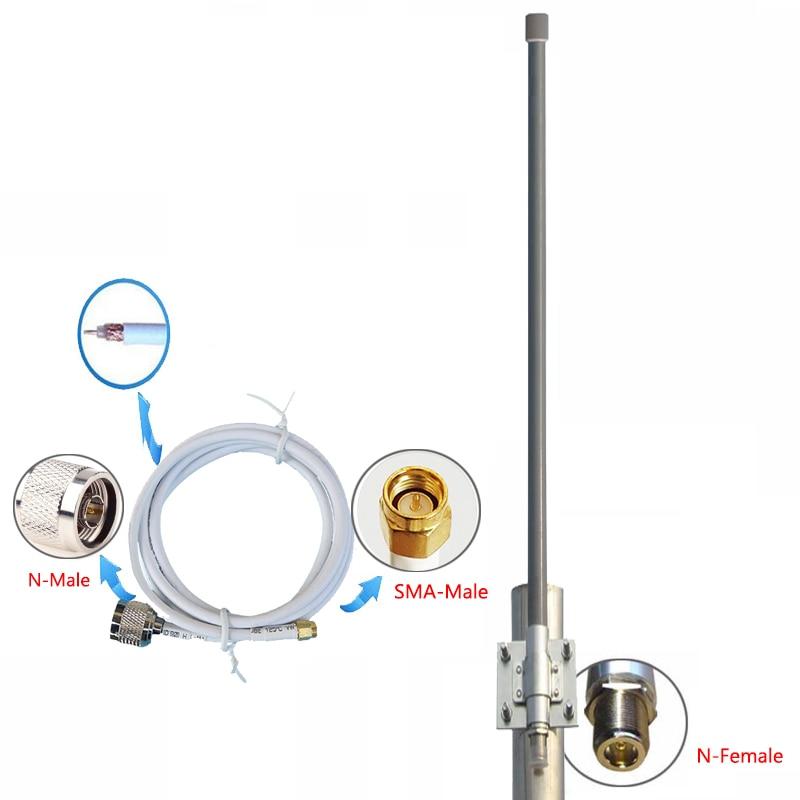 900MHz High Gain 12dBi 1200mm N Female Connector Omni Fiberglass Antenna For Wireless Bridge Router
