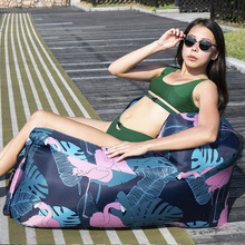 Portable Inflatable Sofa Outdoor Camping Lounger Sleeping Bag Air Bed Waterproof Lazy Sofa Inflatable Chair for Beach and Garden