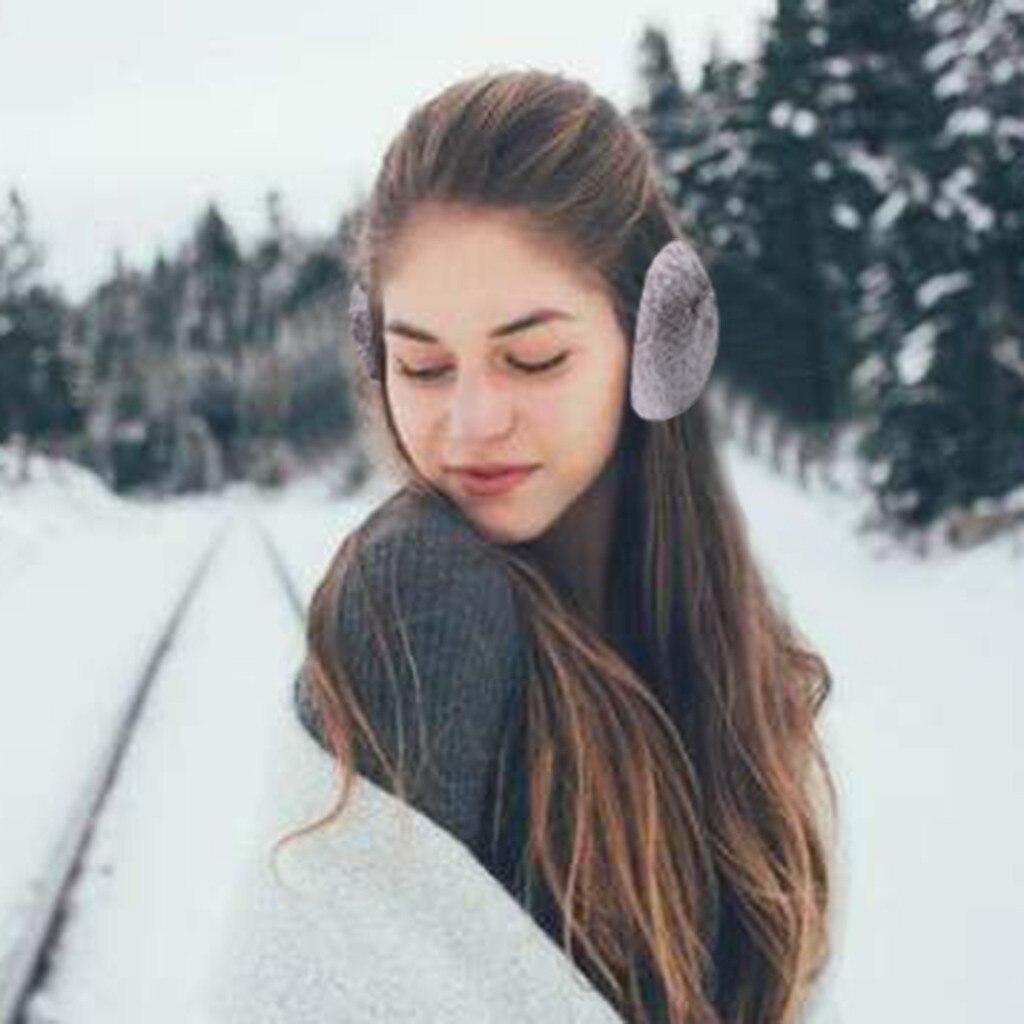 Earmuffs Women Winter Warm Cute Ear Warmers Outdoor Foldable Unisex Adult Earmuffs Ear Warmers