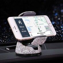 Rhinestone Car Phone Holder For Iphone Smartphone Mobile Sta