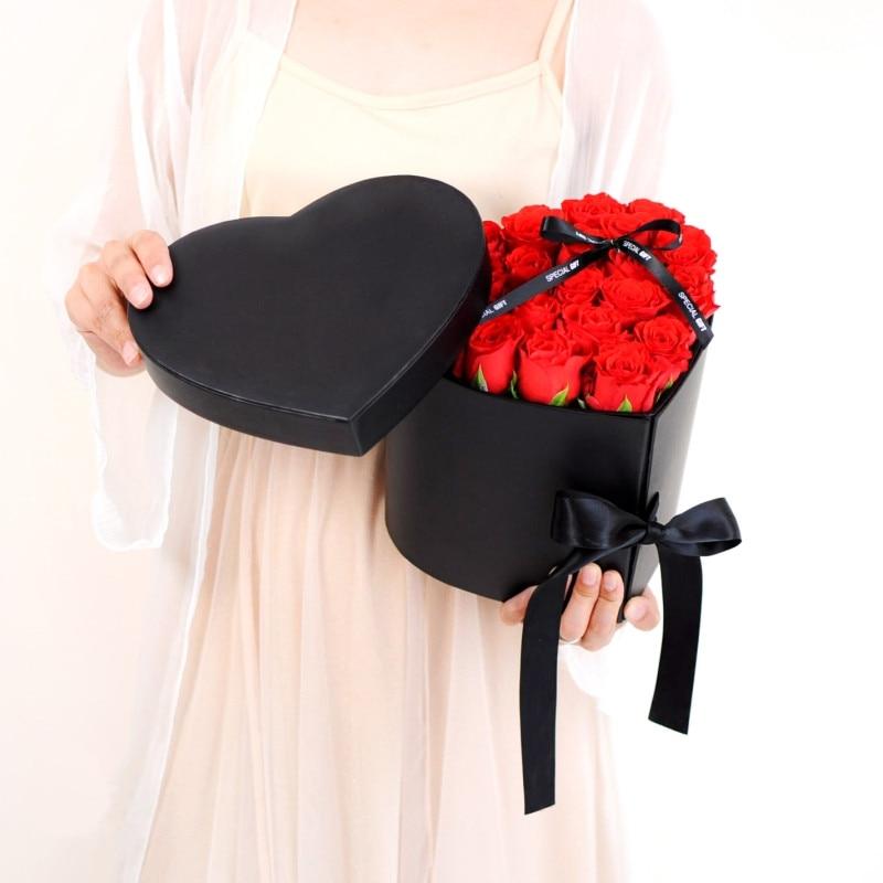 wedding : Love Heart Gift Cardboard Creative Wedding Favor Valentines Day Florist Party Hand Gift Flower Decoration Packaging Box