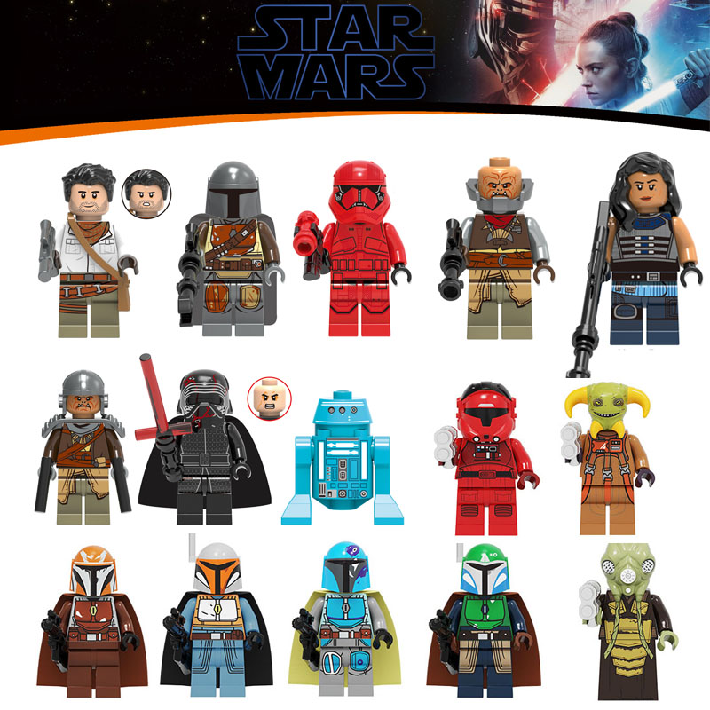 8PCS/LOT Starwars Poe Dameron The Man Rhoda Sith Stormer Legoinglys Star Wars Building Blocks Minifigured Children Toys Gift