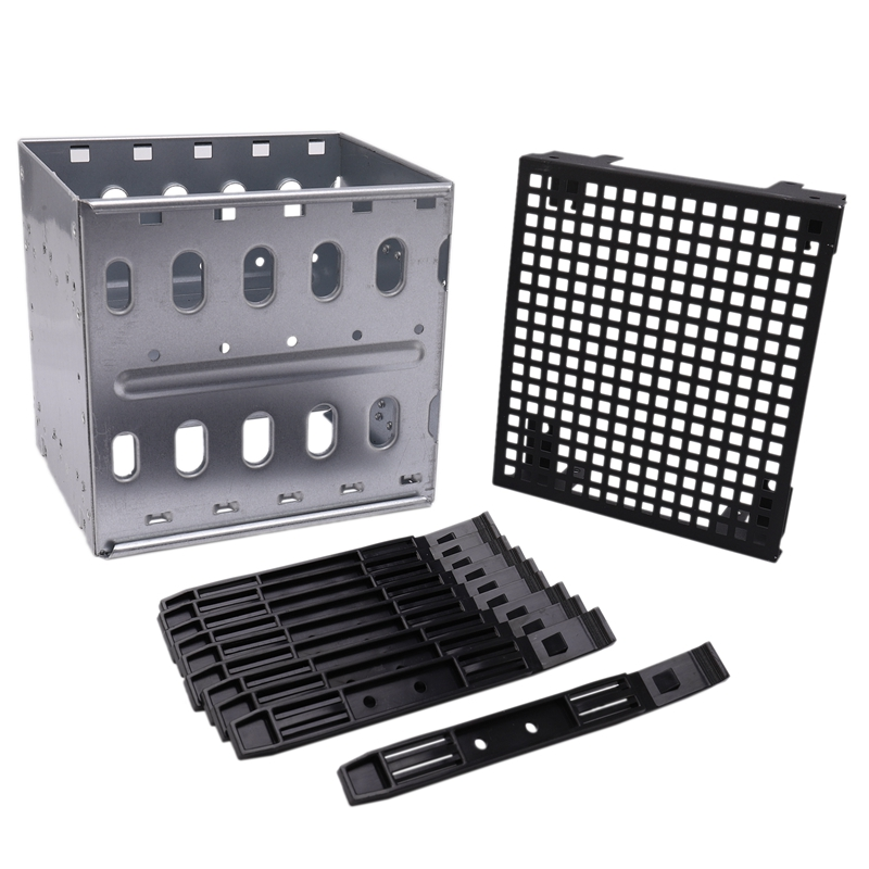 New Large Capacity Stainless Steel HDD Hard Drive Cage Rack SAS SATA Hard Drive Disk Tray Caddy For Computer Accessories Qiang