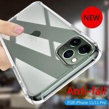 Transparent phone case for iphone 11 luxury cover pro soft tpu iphone11 max casesanti-drop set