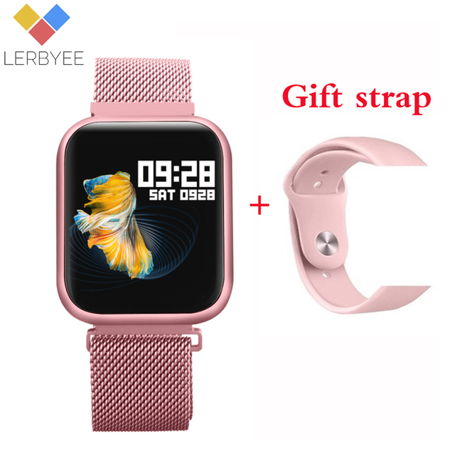 $ US $26.31 Lerbyee P80 Smart Watch Waterproof Heart Rate Monitor Fitness Watch Call Reminder Sport Smartwatch Sleep Monitor for iOS Android