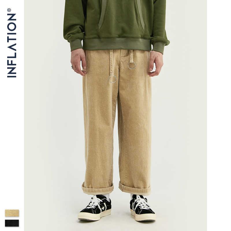 Pantalones Inflados De Pana Ancha Informales De Invierno 2020 Para Hombre Pantalones Holgados De Pana Pantalones De Pana De Color Liso Para Hombre 93330w Pantalones Informales Aliexpress