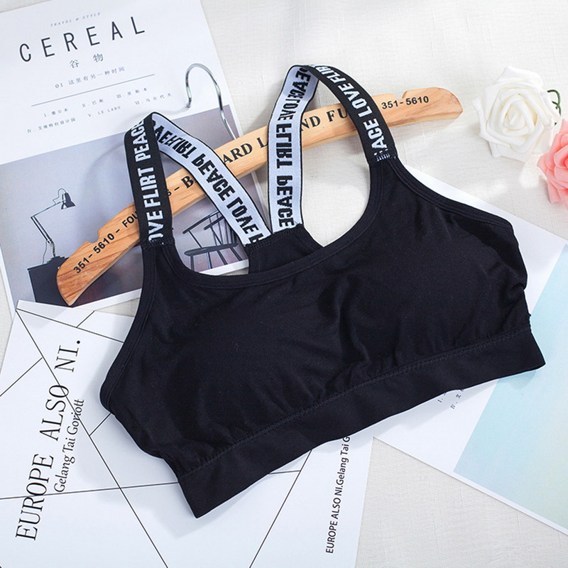 SFIT <font><b>Women</b></font> <font><b>Sport</b></font> Bra Top Black Padded Running Yoga <font><b>Brassiere</b></font> <font><b>Fitness</b></font> Clothing for <font><b>women</b></font> Gym <font><b>Sports</b></font> Bra image