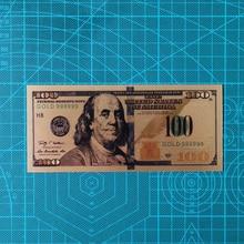 10 шт./компл. 100 Долларовые купюры поддельные деньги с покрытыем цвета чистого 24 каратного золота долларов банкнот под старину с покрытием из ...