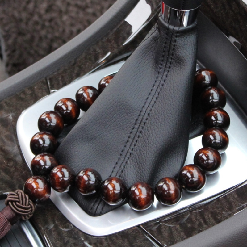 Wood Buddha 21 Beads Car Interior Rearview Mirror Hanging Pendant Decor Ornament A6HE