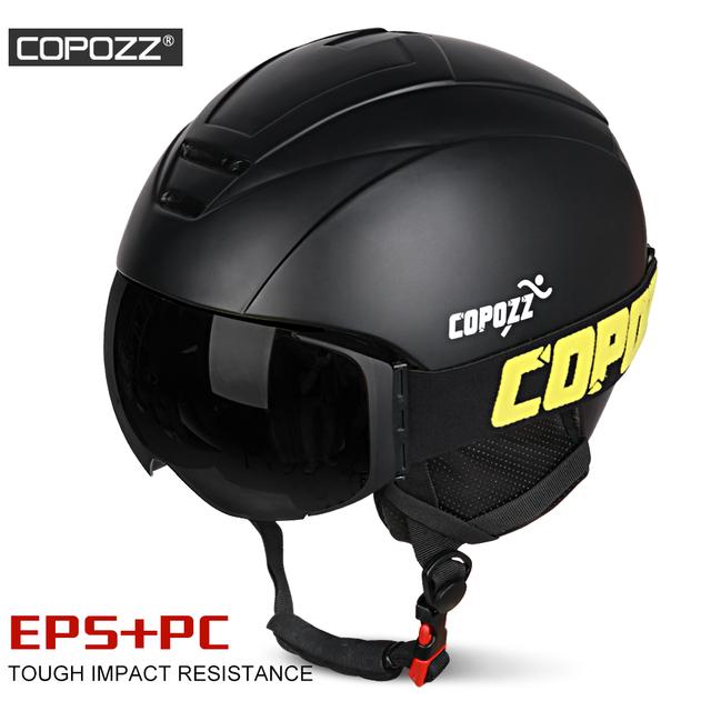 COPOZZ Men Women Ski Helmet Protective Skiing Helmet Integrally-molded Sports Skating Skateboard  Ski Snowboard Helmet
