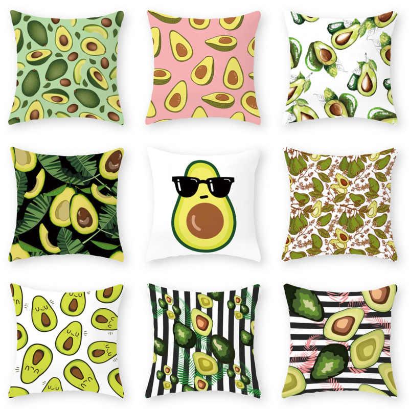 Funny Fruit Avocado Green Cushion Cover