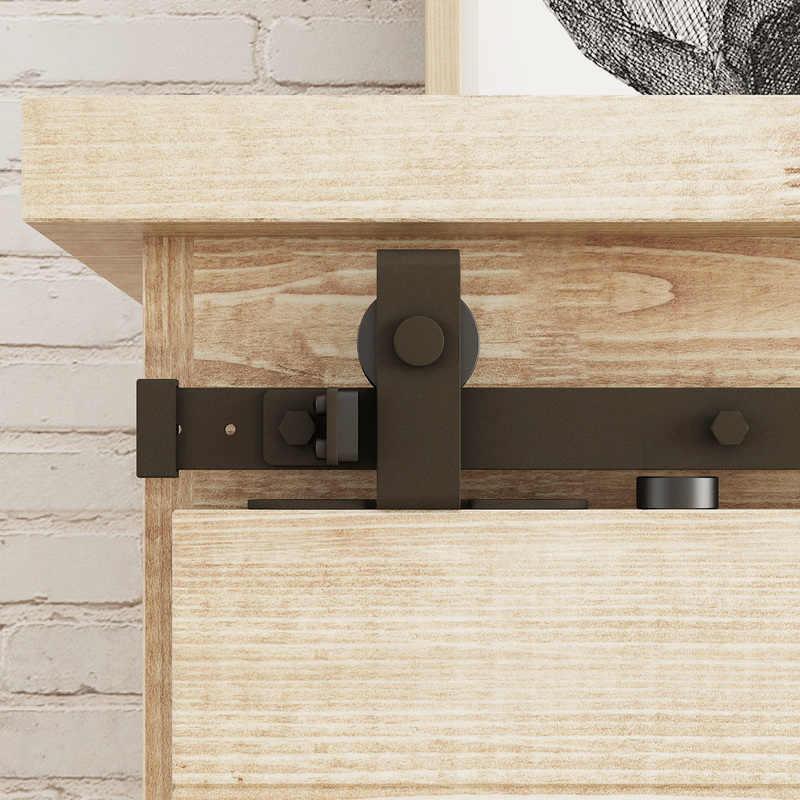 mini porte de grange coulissante en bois kit de quincaillerie rail de suspension pour armoire support de television placard double porte sans