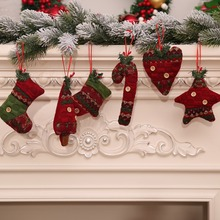 Merry Christmas Hanging Decorations Pendants Button Decor Xmas Tree Drop Ornament Decorative Holiday Party Supplies