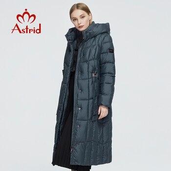 Astrid 2020 delle Nuove donne di Inverno cappotto lungo delle donne parka caldo Plaid di modo di spessore Giacca con cappuccio Bio-Imbottiture femminile disegno di abbigliamento 9546 1
