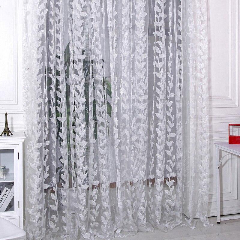 1-1 м х 2 м двери окна шарф прозрачные листья напечатанные занавески драпировка панель тюль вуаль подзоры смотреть на Алиэкспресс Иркутск в рублях