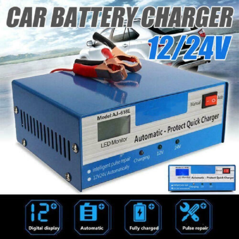 1 conjunto 12 24v automático carregador de