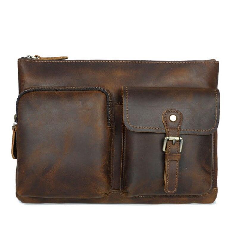 New 2019 Design Men Canvas Messenger Bag High Quality Casual Flap Handbags Man Crossbody Shoulder Bags Military in solid brown