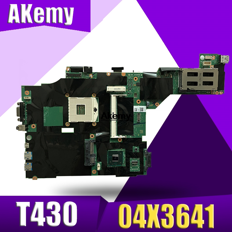 FRU: 04X3641 04Y1406 04W6625 04X3639 For Lenovo Thinkpad T430 Laptop Motherboard