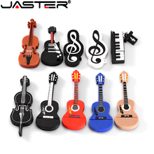 Flash-Drive JASTER Memoria Usb-2.0 16gb Usb 8GB Cute White Note Guitar Cartoon 4GB 32GB
