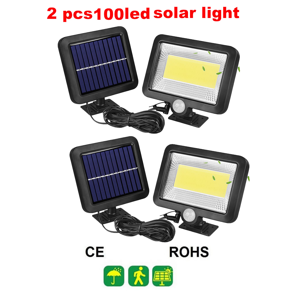 2/4pcs Solar Light PIR Motion Sensor 100/56/30 LED Outdoor Waterproof Energy Saving Street Yard Path Solar Power Garden Lamp Sun