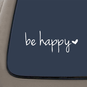 15X6cm Be Happy Letters Reflective Car Vehicle Body Window Decals Sticker Decoration 2