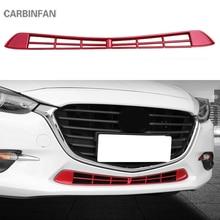 Автомобильный ABS Воздушный вход Декоративная полоса отделка стикер Передняя решетка нижнего бампера Сетка Крышка отделка для Mazda 3 Axela 1384
