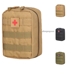 Molle Tactical Medical Pouch Nylon Army Survival Utility First Aid Hunting Airsoft Paintball Military Bag