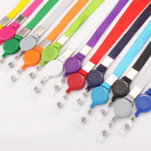 Badge-Holder Retractable Lanyard Office-Supplies Name-Card Neck-Strap Colors 1pcs Variety