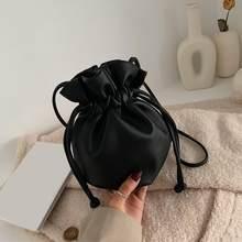 Kleine Kordelzug Eimer Taschen Für Frauen 2020 fashion Schulter Crossbody-tasche Weibliche Handtaschen und Geldbörsen Dame Einfarbig Hand Tasche