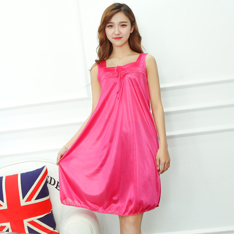Summer Sleeveless Vest Nightgown Less Camisole For Women Viscose Lace Summer Pajamas Student Thin Home Wear