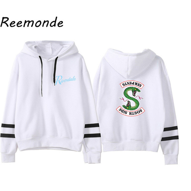 Riverdale Southside Serpents Hoodies Sweatshirts MenS Women South Side Serpents Hoodie Long Sleeve Striped Pullover Top Oversize 3