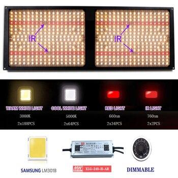 120W 240W Samsung LM301H/301B Quantum LED Grow Light Board Full Spectrum 3000K 5000K 660nm 760nm Hydroponic Kits