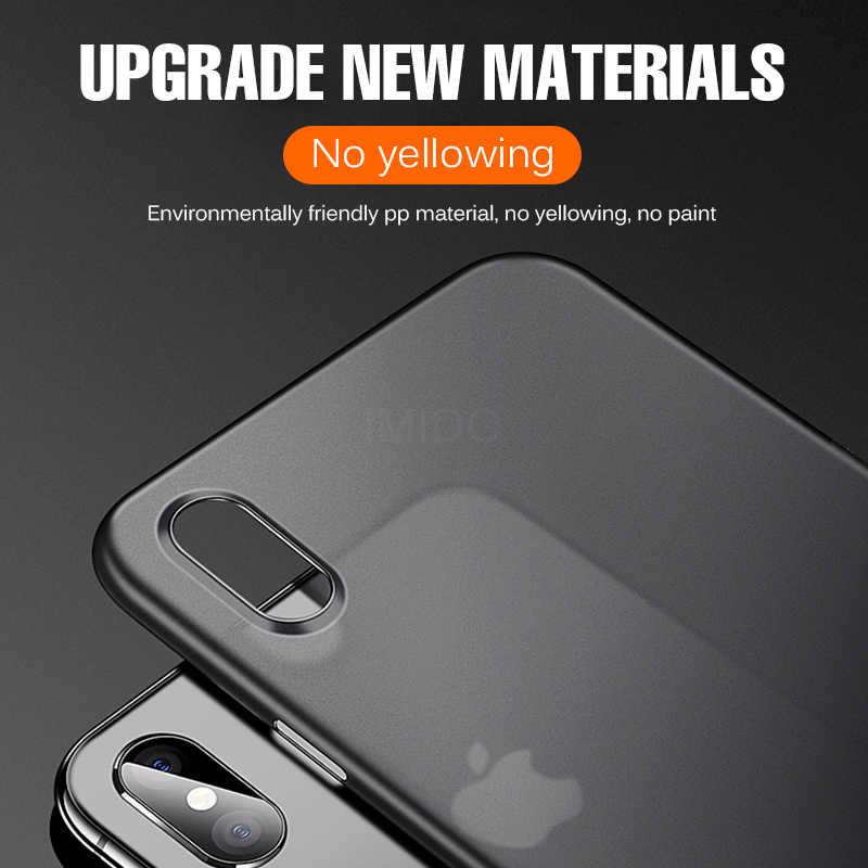 Ultra Thin 0.2Mm PC Hardโทรศัพท์สำหรับIphone 11 Pro X XR XS 12 Maxเต็มรูปแบบสำหรับiphone 7 6 6S 8 Plus Matteกันกระแทก