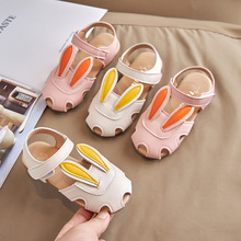 Girls Sandals Sweet Princess Shoes Sandals Toddler Infant Kids Baby Cute Rabbit Soft Princess Shoes Children Beach Sandals