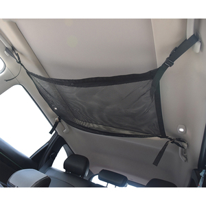 Image 2 - Car Ceiling Mesh Storage Bag Roof Interior Cargo Universal Mesh Bag Can Expand The Sundries Toy Mesh Cloth Storage Bag