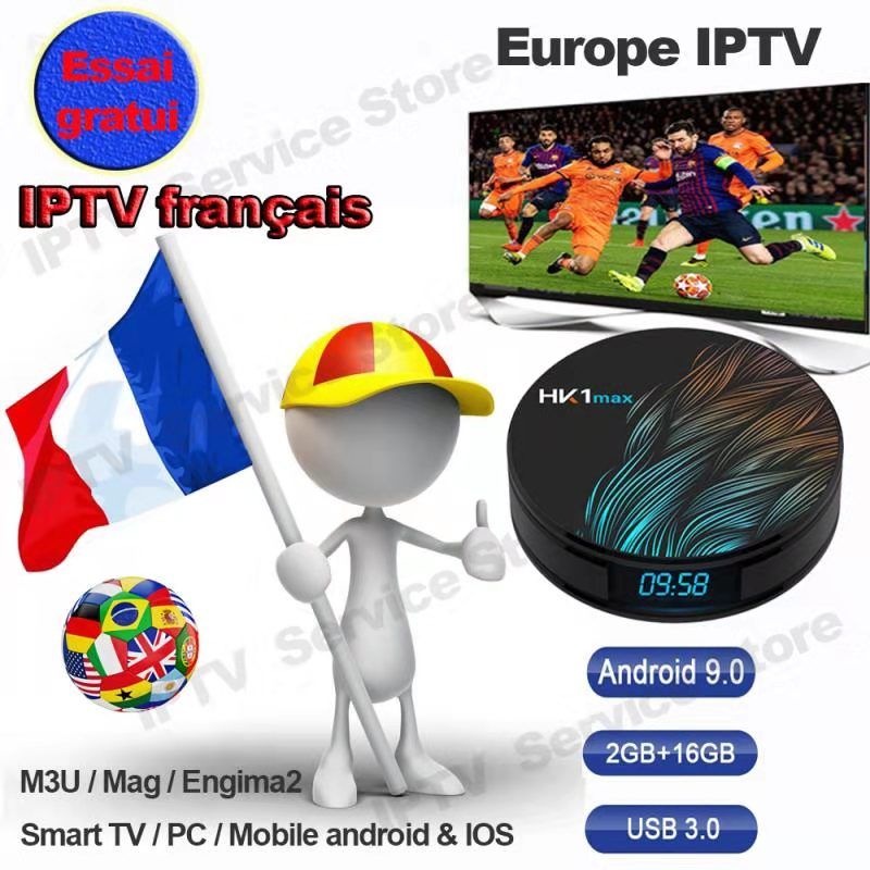Iptv France French Abonnement 6 12 Mois Code IPTV Francais Albania Iptv-france Subscription For LG Smart Tv Hk1 Max Android Box