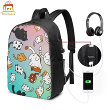 Neko Atsume Backpack Neko Atsume Backpacks Teenage Pattern Bag Multi Function School Man - Woman Bags neko atsume backpack for teenagers girls cartoon cat backyard print school bags daily bag women travel bag kids school backpacks