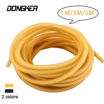 1m 3m 5m Natural Slingshot Elastic Latex Tube 3050 2055 1842 2040 Catapult Sling Replacement Ruber Band For Hunting Shooting image