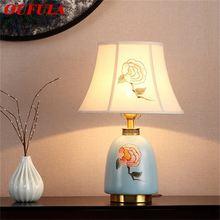 Латунные настольные лампы oufula керамический Настольный светильник